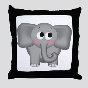 Adorable Elephant Throw Pillow
