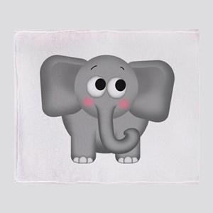 Adorable Elephant Throw Blanket