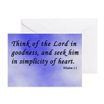 Wisdom 1:1 Bible Verse Greeting Cards (Package of