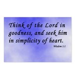 Wisdom 1:1 Bible Verse Postcards (Package of 8)