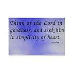 Wisdom 1:1 Bible Verse Rectangle Magnet (10 pack)