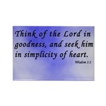 Wisdom 1:1 Bible Verse Rectangle Magnet