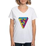 CMYK Triangle Women's V-Neck T-Shirt