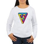 CMYK Triangle Women's Long Sleeve T-Shirt