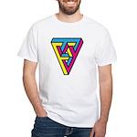 CMYK Triangle White T-Shirt