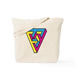 CMYK Triangle Tote Bag