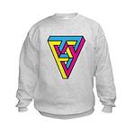CMYK Triangle Kids Sweatshirt