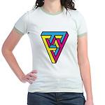 CMYK Triangle Jr. Ringer T-Shirt