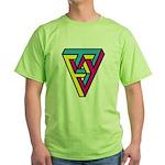 CMYK Triangle Green T-Shirt