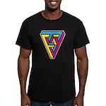 CMYK Triangle Men's Fitted T-Shirt (dark)
