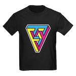 CMYK Triangle Kids Dark T-Shirt