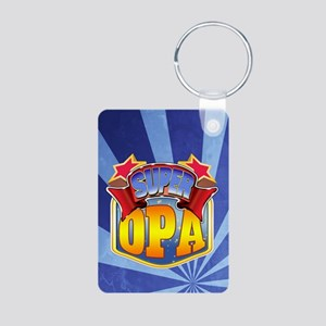 Super Opa Aluminum Photo Keychain