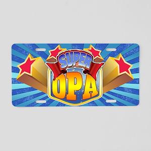 Super Opa Aluminum License Plate