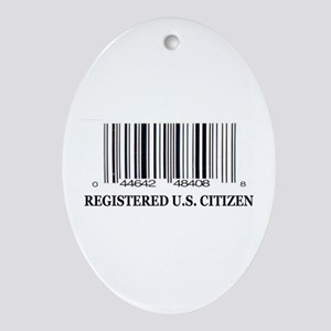 REGISTERED U.S. CITIZEN Oval Ornament