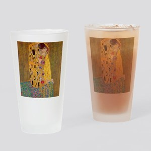 The Kiss by Klimt Drinking Glass