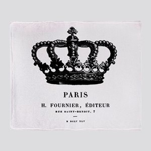 PARIS CROWN Throw Blanket