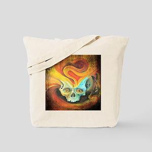 Flame Skull Tote Bag
