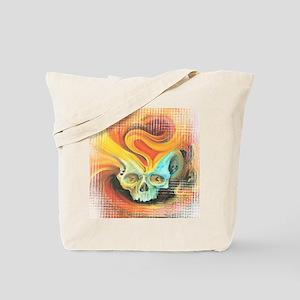 Flame Skull - white Tote Bag