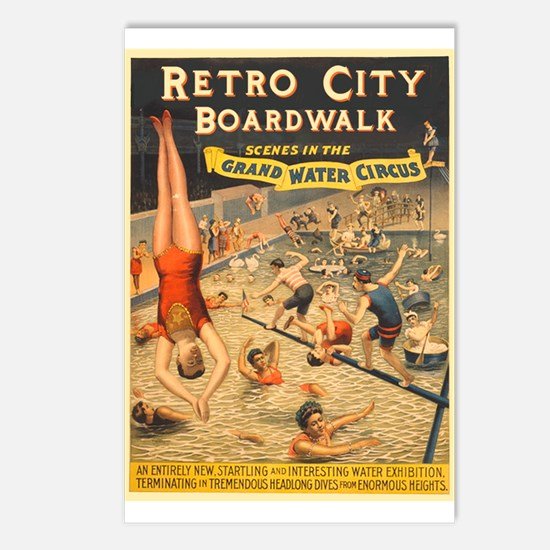 Grand Water Circus Poster Postcards (Package of 8)