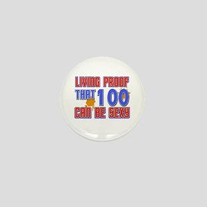 Cool 100 year old birthday design Mini Button