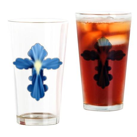 Holy Spirit Cross Drinking Glass