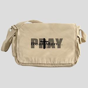 Real Men Pray Messenger Bag