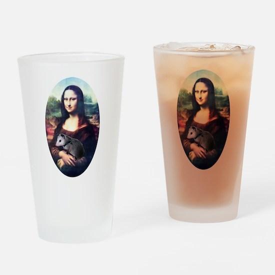 Mona Lisa Possum Drinking Glass