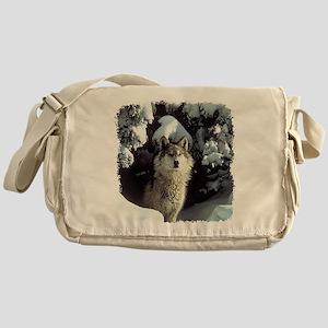 Winter Wolf Messenger Bag