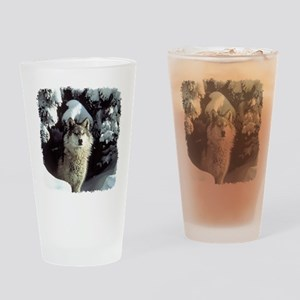 Winter Wolf Drinking Glass