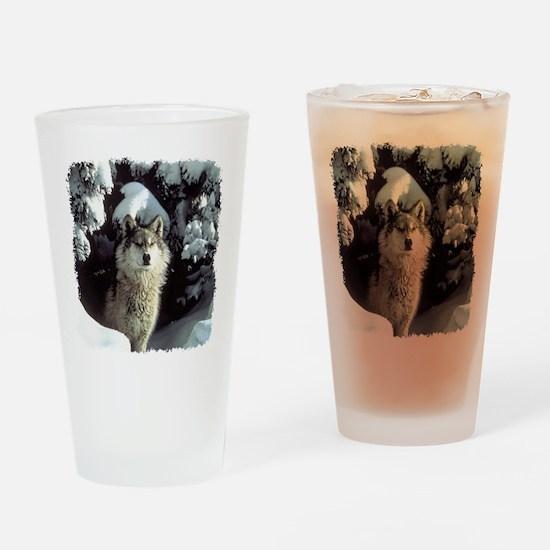 Winter Wolf Drinking Glass