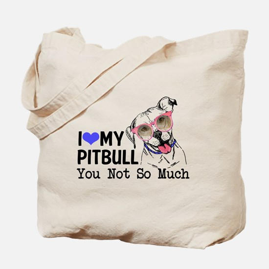 Cute I heart my pit bull Tote Bag