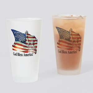 God Bless America! Drinking Glass