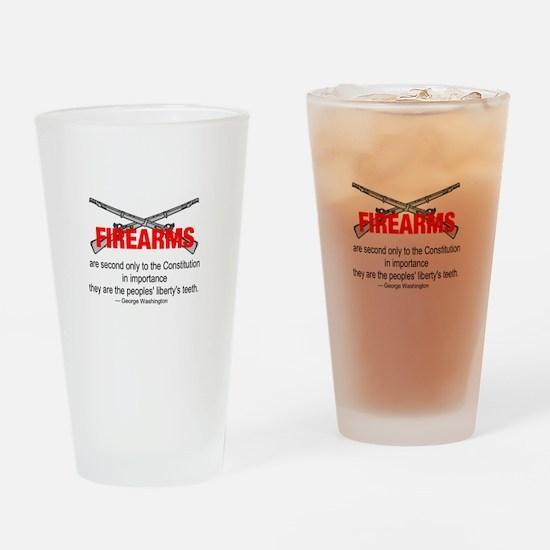 Anti Gun Control Drinking Glass