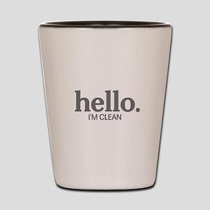 Hello I'm clean Shot Glass