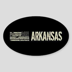 Black Flag: Arkansas Sticker (Oval)