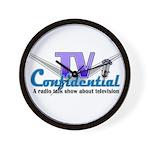 Tv Confidential Logo Wall Clock