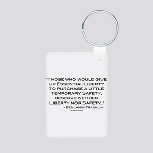 Liberty Nor Safety (Quote) Aluminum Photo Keychain