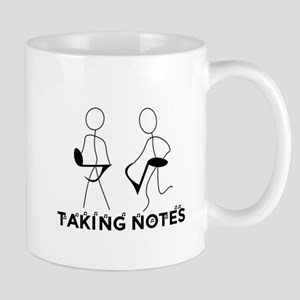 TAKING NOTES - MUSIC Large Mugs