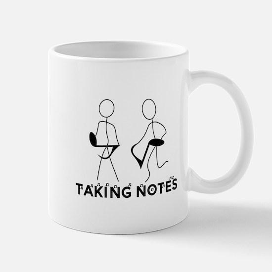 TAKING NOTES - MUSIC Large Mugs