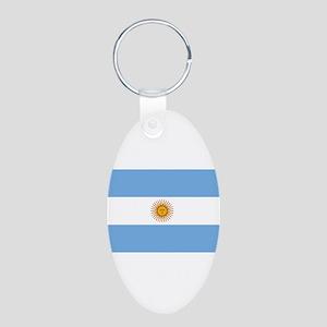 Argentina Aluminum Oval Keychain