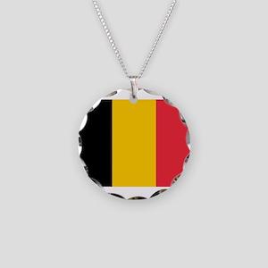 Belgium Necklace Circle Charm