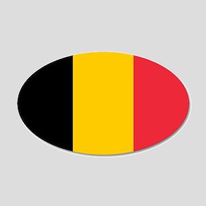 Belgium 22x14 Oval Wall Peel