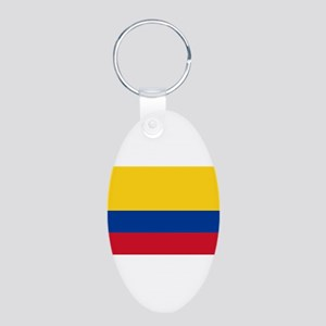 Colombia Aluminum Oval Keychain