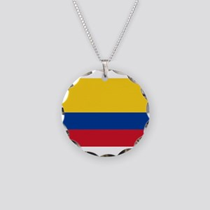 Colombia Necklace Circle Charm