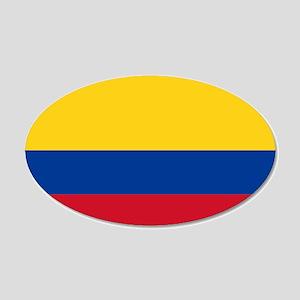Colombia 22x14 Oval Wall Peel