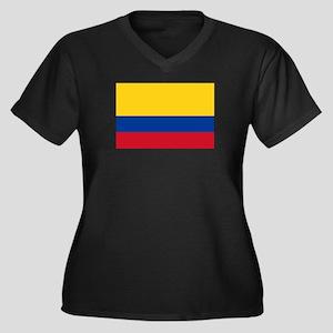 Colombia Women's Plus Size V-Neck Dark T-Shirt