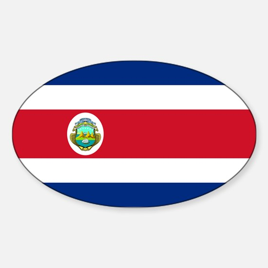 Costa Rica Sticker (Oval)