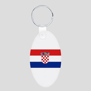 Croatia Aluminum Oval Keychain