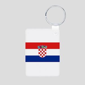 Croatia Aluminum Photo Keychain