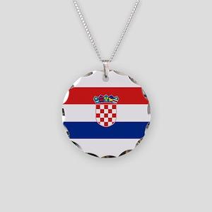 Croatia Necklace Circle Charm